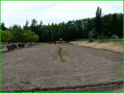 Site After Grading My Village Green