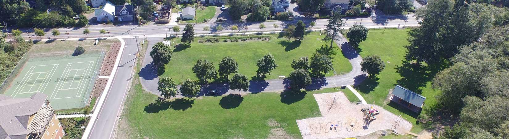 Village Green Park Aerial